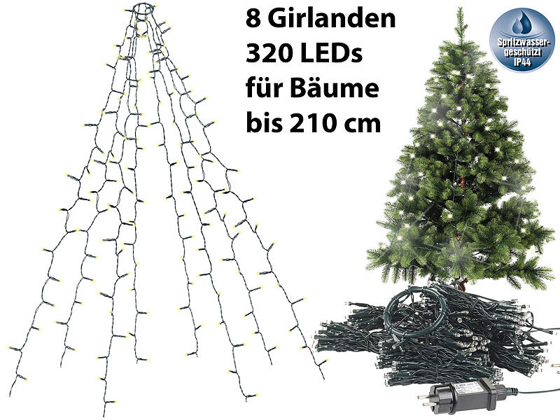 Christbaum lichterkette led innen