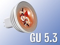 Lunartec High-Power LED-Strahler, 3W LED, rot, GU 5.3 (12V)