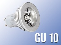 Lunartec High-Power LED-Strahler, 3W LED, warmweiß, GU 10 (230V)