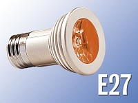 Lunartec High-Power LED-Strahler, 3W LED, rot, E27 (230V)