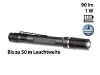 Lunartec Profi-Pen-Light LED-Taschenlampe m. Cree-LED, 90 lm, 1 Watt, Alu, IPX3