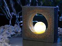 lunartec eindrucksvolle skulptur mit solar led beleuchtung. Black Bedroom Furniture Sets. Home Design Ideas