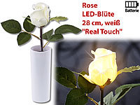 "Lunartec LED-Rose ""Real Touch"" mit LED-Blüte, 28 cm, weiß"