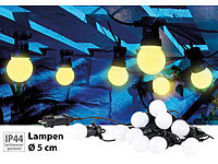 Lunartec Party-LED-Lichterkette m. 10 LED-Birnen, 3 Watt, IP44, warmweiß, 4,5 m; LED-Lichtbänder LED-Lichtbänder LED-Lichtbänder LED-Lichtbänder
