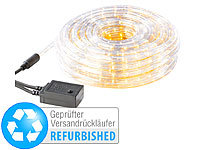 ; LED-Solar-Lichterketten (warmweiß)