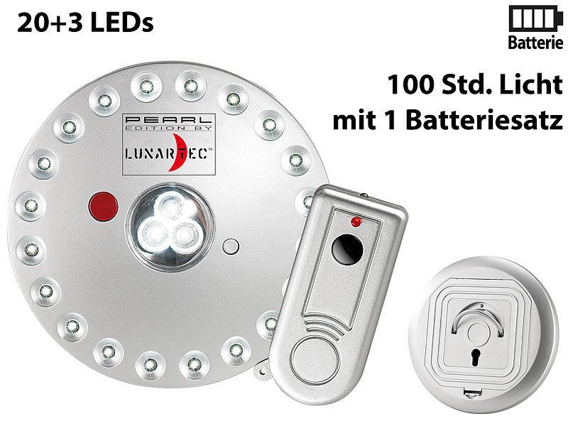 Lunartec Rundleuchte mit 20+3 LEDs, inklusive Fernbedienung