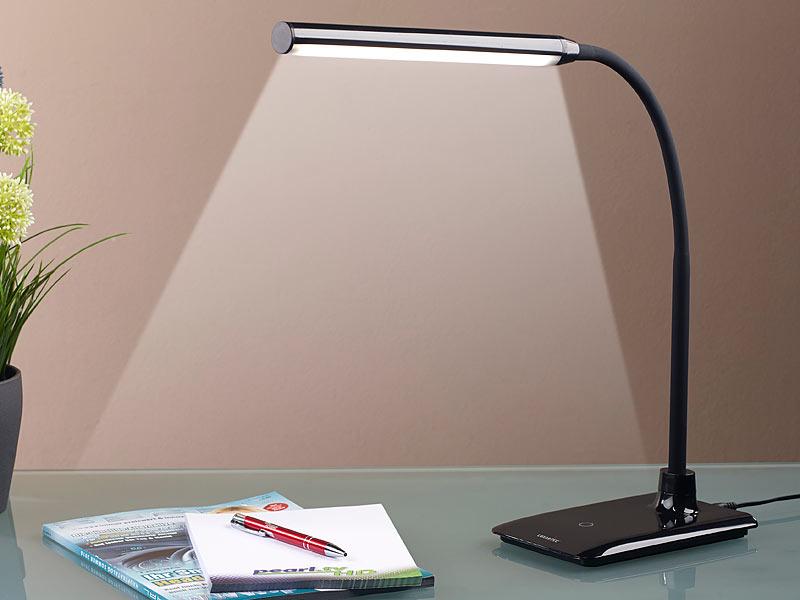 Lunartec Dimmbare LED-Schreibtischlampe 6 W mit